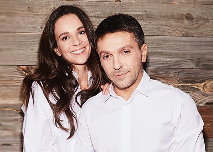 Актер со второй женой Анной Моисеевой | Фото: stuki-druki.com