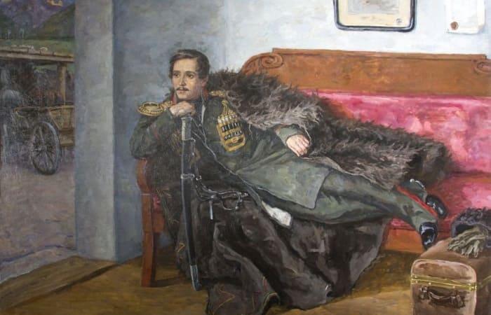 П. Кончаловский. Лермонтов, 1943. Фрагмент | Фото: artchive.ru