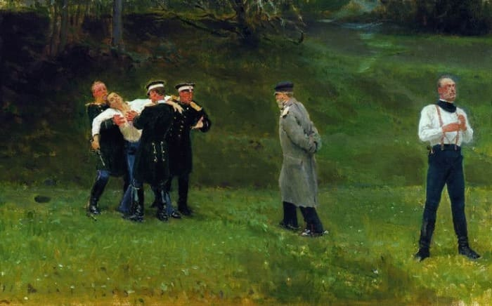 И. Репин. Дуэль, 1897   Фото: i-repin.ru