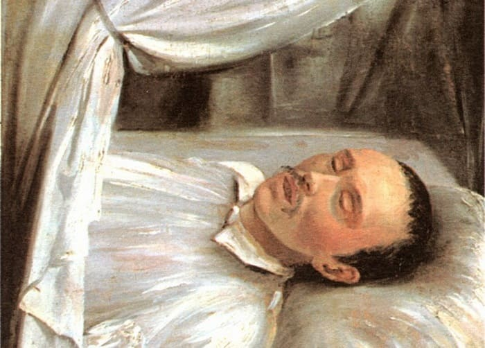 Р. Шведе. М. Ю. Лермонтов на смертном одре, 1841   Фото: vrubel-lermontov.ru