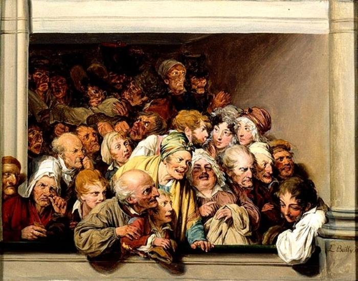 Луи-Леопольд Буальи. Ложа в день бесплатного спектакля, 1830