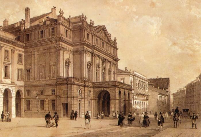 Оперный театр *Ла Скала* в XIX в.