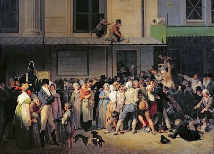 Луи-Леопольд Буальи. Вход в театр перед началом бесплатного представления, 1819