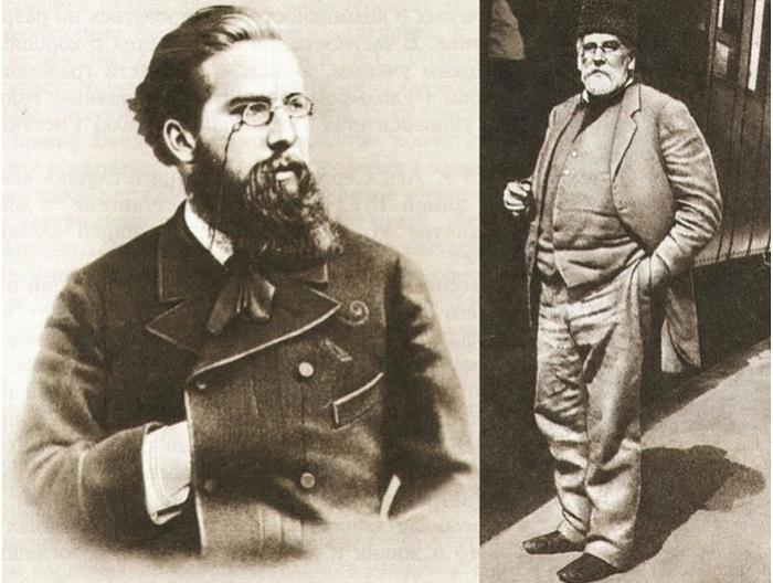 Лев Голицын в 1870-е гг. и в 1913 г. | Фото: blogrider.ru