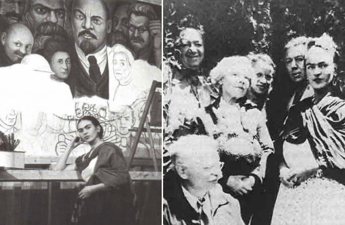 Художница Фрида Кало стала последней страстью революционера Льва Троцкого. | Фото: repin.info и pheonae.livejournal.com
