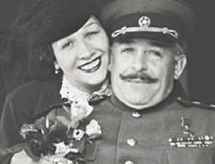 Лидия Русланова с мужем, генералом Крюковым