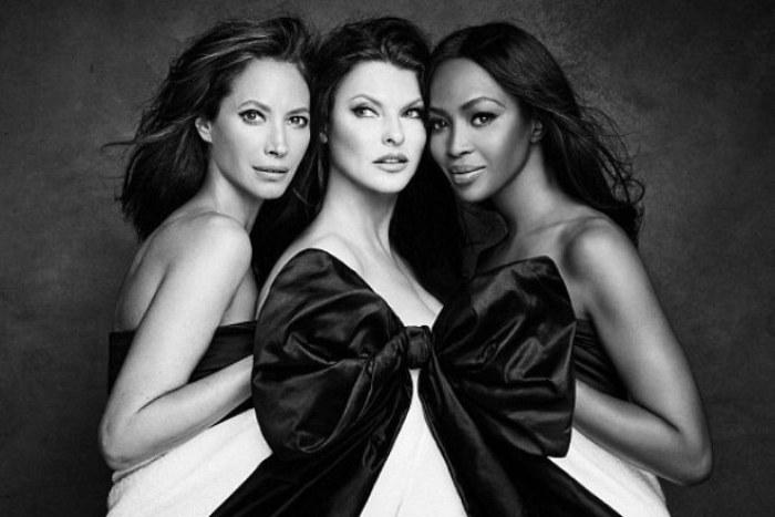 Самые успешные модели начала 1990-х гг. Кристи Тарлингтон, Линда Евангелиста и Наоми Кэмпбелл | Фото: 24smi.org