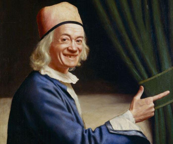 Жан-Этьен Лиотар. Автопортрет (Лиотар Смеющийся), 1770. Фрагмент | Фото: artchive.ru