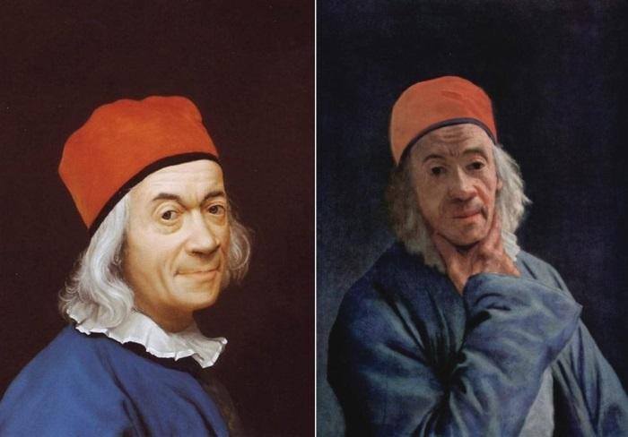 Жан-Этьен Лиотар. Автопортреты 1768 и 1773 гг.   Фото: liveinternet.ru и artchive.ru