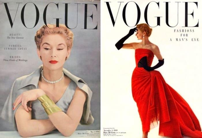 Первая звезда журнала *Vogue* в 1940-х гг. | Фото: telegraf.com.ua, liveinternet.ru