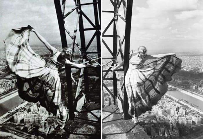 Лиза Фонсагривс на Эйфелевой башне | Фото: istorik.net