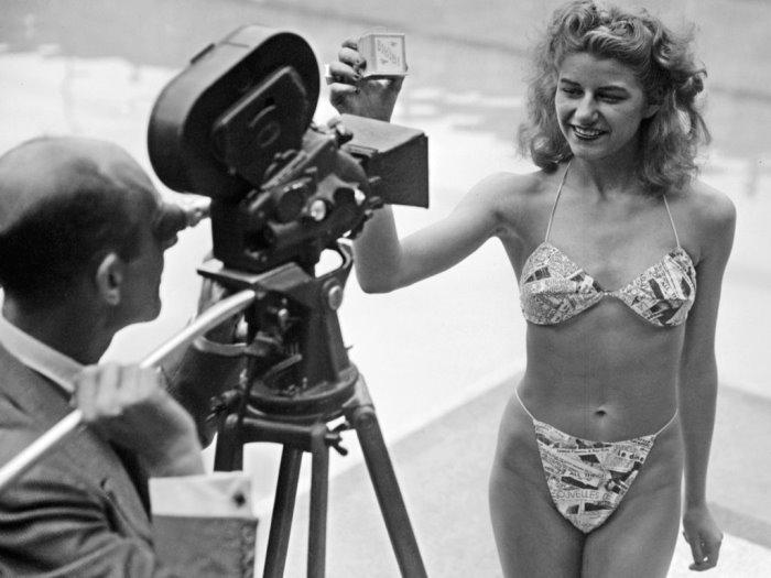 Мишелин Бернардини в бикини от Луи Реара, 1946 | Фото: diletant.media