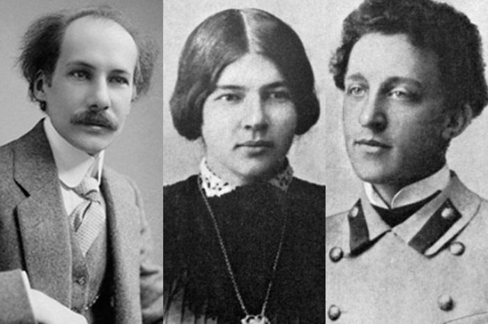Андрей Белый, Любовь Менделеева и Александр Блок | Фото: aif.ru