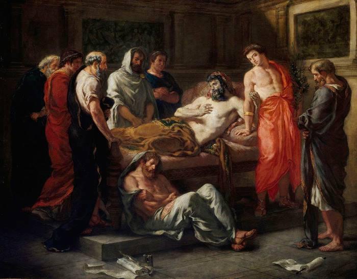 Э. Делакруа. Марк Аврелий перед смертью передаёт власть Коммоду, 1844 | Фото: rushist.com