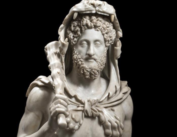 Луций Элий Аврелий Коммод в образе Геркулеса | Фото: favera.ru