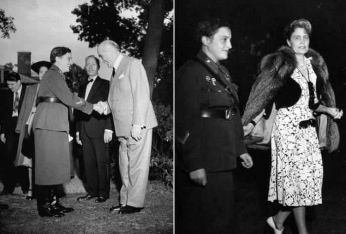 Людмила Павличенко с послом США в СССР и его женой | Фото: statehistory.ru