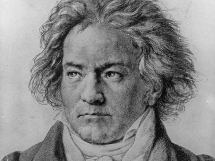 Людвиг ван Бетховен. Литография