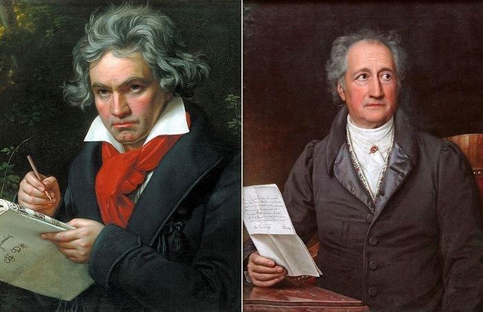 Йозеф Карл Штилер. Портрет Бетховена, 1820. Портрет Гете, 1828