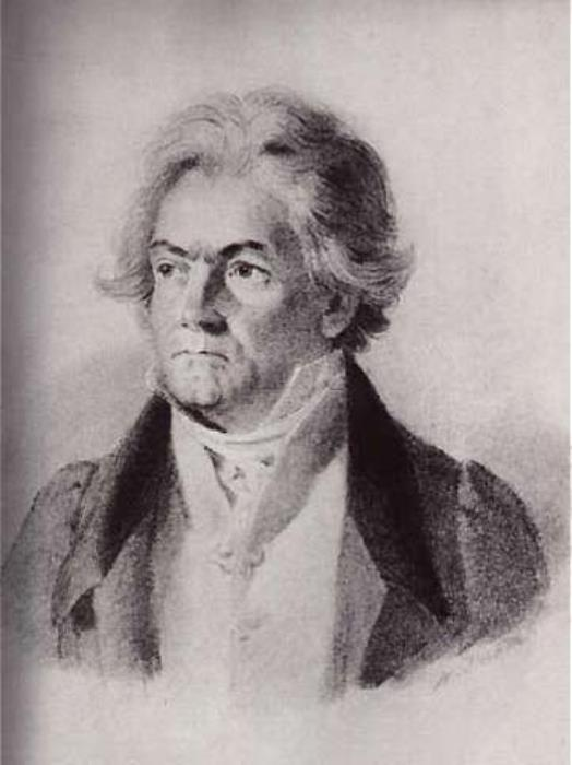 Иоганн Стефан Деккер. Бетховен, 1823