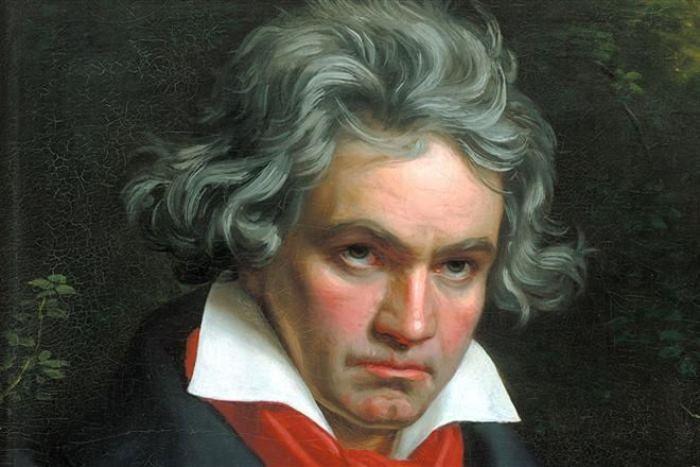 Йозеф Карл Штилер. Портрет Бетховена, 1820. Фрагмент