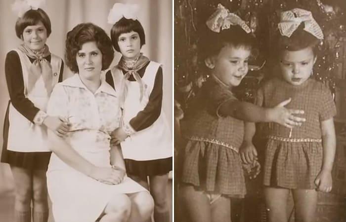 Лидия Вележева с матерью и сестрой