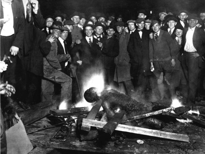 Массовая расправа над насильником. Небраска, США, 1919   Фото: glavpost.com