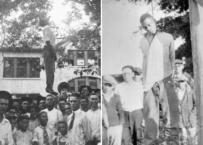 Суд Линча над темнокожими. Техас, США, 1920. Фото слева стало открыткой   Фото: glavpost.com