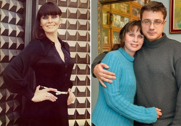 Актриса с сыном, Алексеем Макаровым   Фото: kino-teatr.ru, 7days.ru