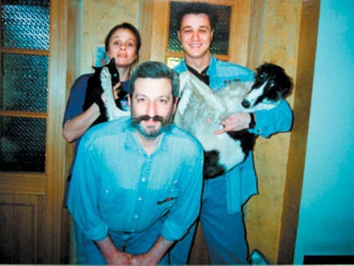 Любовь Полищук со вторым мужем, Сергеем Цигалем, и сыном, Алексеем Макаровым   Фото: krasotana5.ru