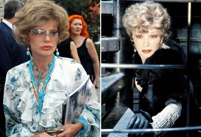 Артистка в 2006 и в 2009 гг. | Фото: tele.ru, kino-teatr.ru