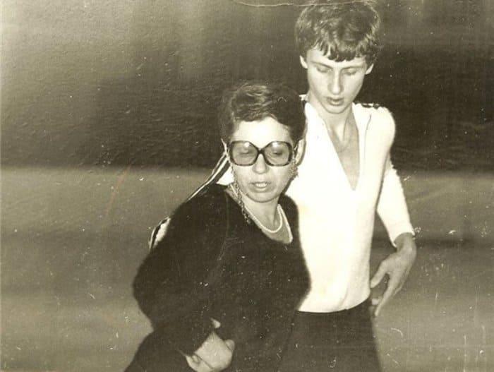 Людмила Пахомова на тренировке с Игорем Шпильбандом, начало 1980-х гг.   Фото: sports.ru