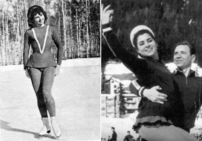 Фигуристка в начале 1960-х гг.   Фото: sports.ru, aif.ru