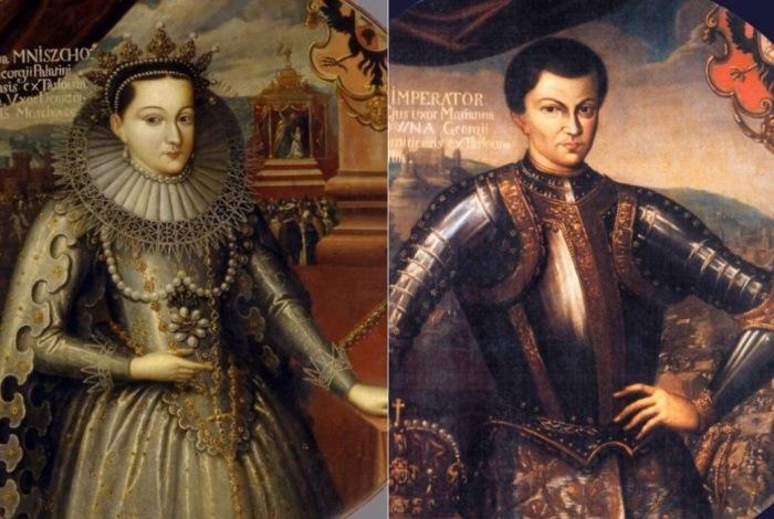 Ш. Богуш. Слева – Марина Мнишек. Коронационный портрет, 1606. Справа –  Дмитрий Иоаннович, Лжедмитрий | Фото: maxpark.com