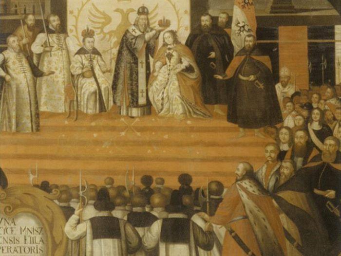 Коронация Марины Мнишек в Успенском соборе | Фото: liveinternet.ru