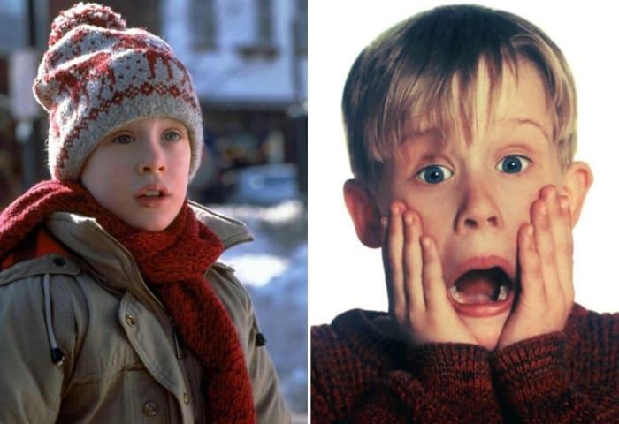 Маколей Калкин в фильмах *Один дома*, 1990, и *Один дома-2*, 1992 | Фото: kino-teatr.ru