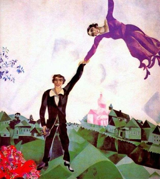 Марк Шагал. Прогулка, 1917–1918