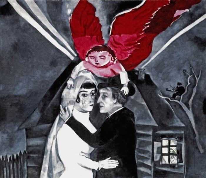 Марк Шагал. Венчание, 1918