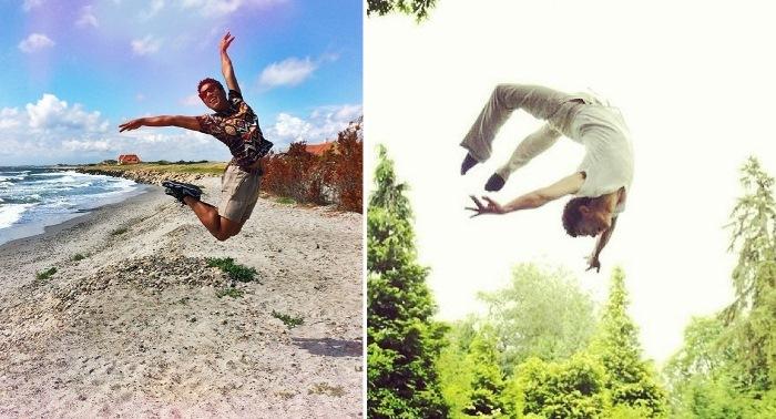 И на отдыхе Марселино демонстрирует свои фирменные парящие прыжки