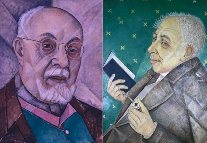 Маревна. Слева – Портрет Анри Матисса, 1956. Справа – Портрет Ильи Эренбурга, 1956