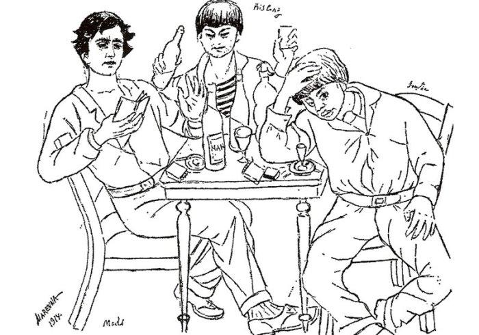 Маревна. Модильяни, Кислинг и Сутин, 1914