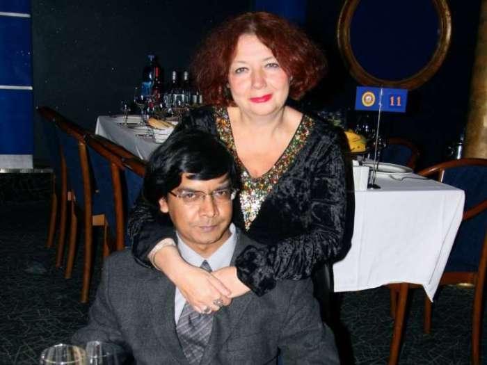 Мария Арбатова и ее третий муж Шумит Датта Гупта | Фото: vokrug.tv