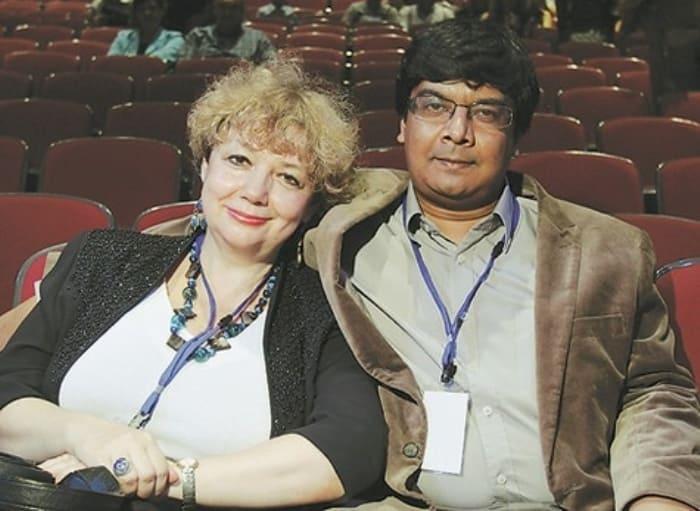 Мария Арбатова и ее третий муж Шумит Датта Гупта | Фото: livelib.ru