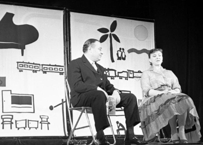 А. Менакер и М. Миронова на сцене Московского государственного театра эстрады | Фото: liveinternet.ru