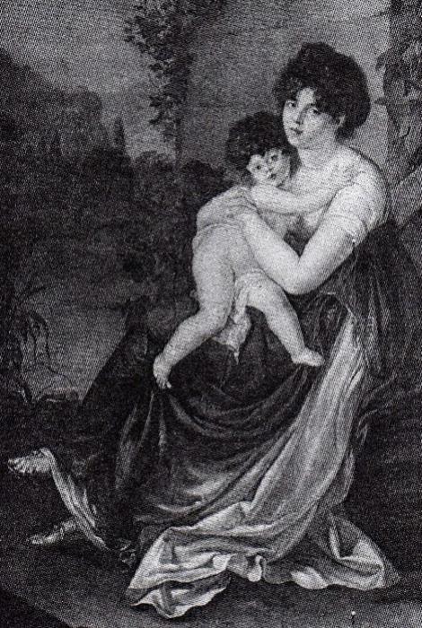П. Э. Стролли. Мария Антоновна Нарышкина с ребенком, 1801 г.