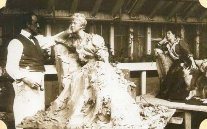 Княгиня Тенишева позирует скульптору П. Трубецкому, 1898 | Фото: liveinternet.ru