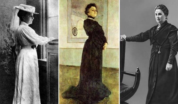 Мария Ермолова на фото и на портрете работы В. Серова, 1905 | Фото: liveinternet.ru и artpoisk.info