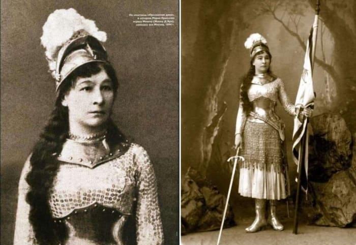 Актриса в роли Жанны Д'Арк, 1894 | Фото: liveinternet.ru