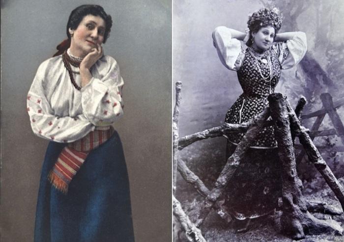 Выдающаяся актриса театра Мария Заньковецкая   Фото: etoretro.ru и gazeta.zn.ua