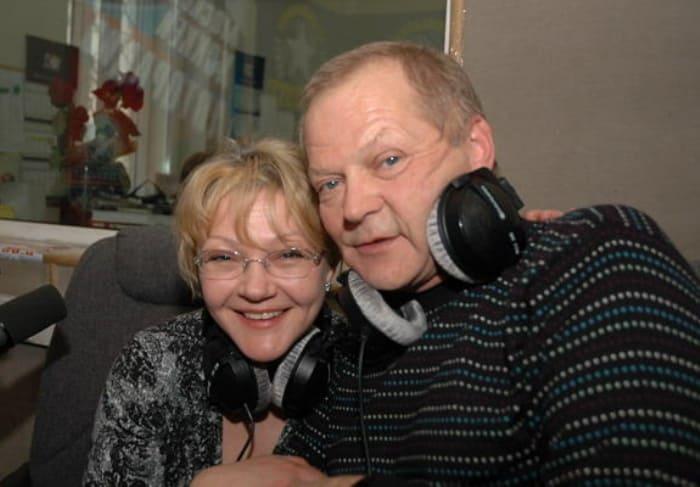 Актриса с мужем, Юрием Гейко   Фото: kino-teatr.ru