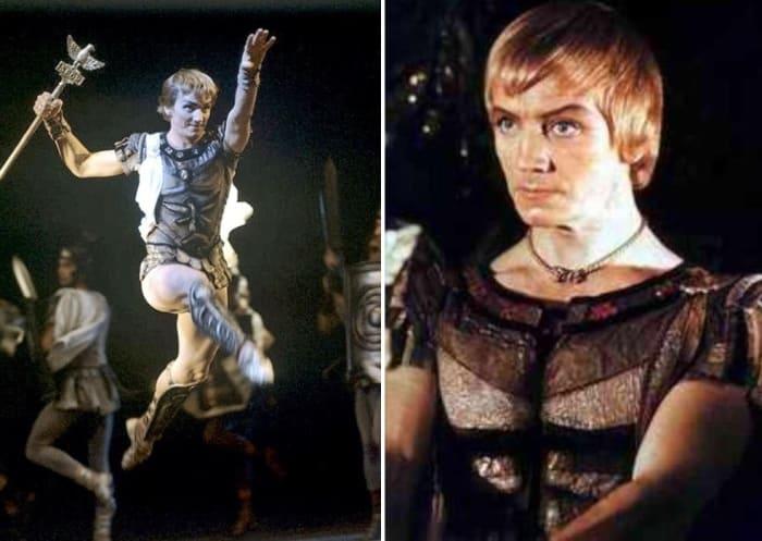 Танцовщик в роли римского патриция Марка Красса | Фото: oneoflady.com и peoples.ru